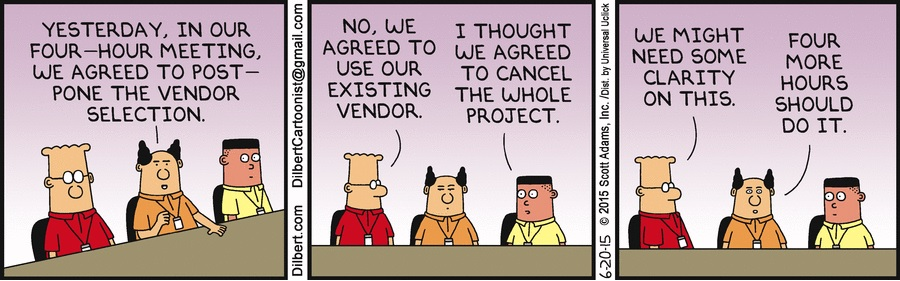 Dilbert: 4 hour meeting