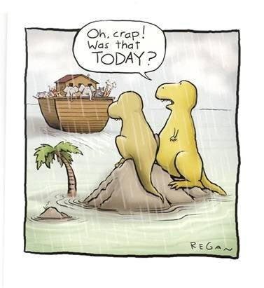 Dinosaurs: Oh crap, was that today?