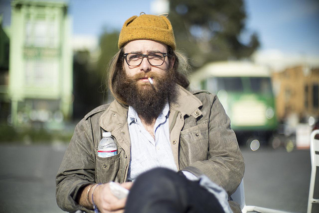 Photo of a San Francisco hipster