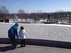JFK's inaugural address at Arlington Cemetary