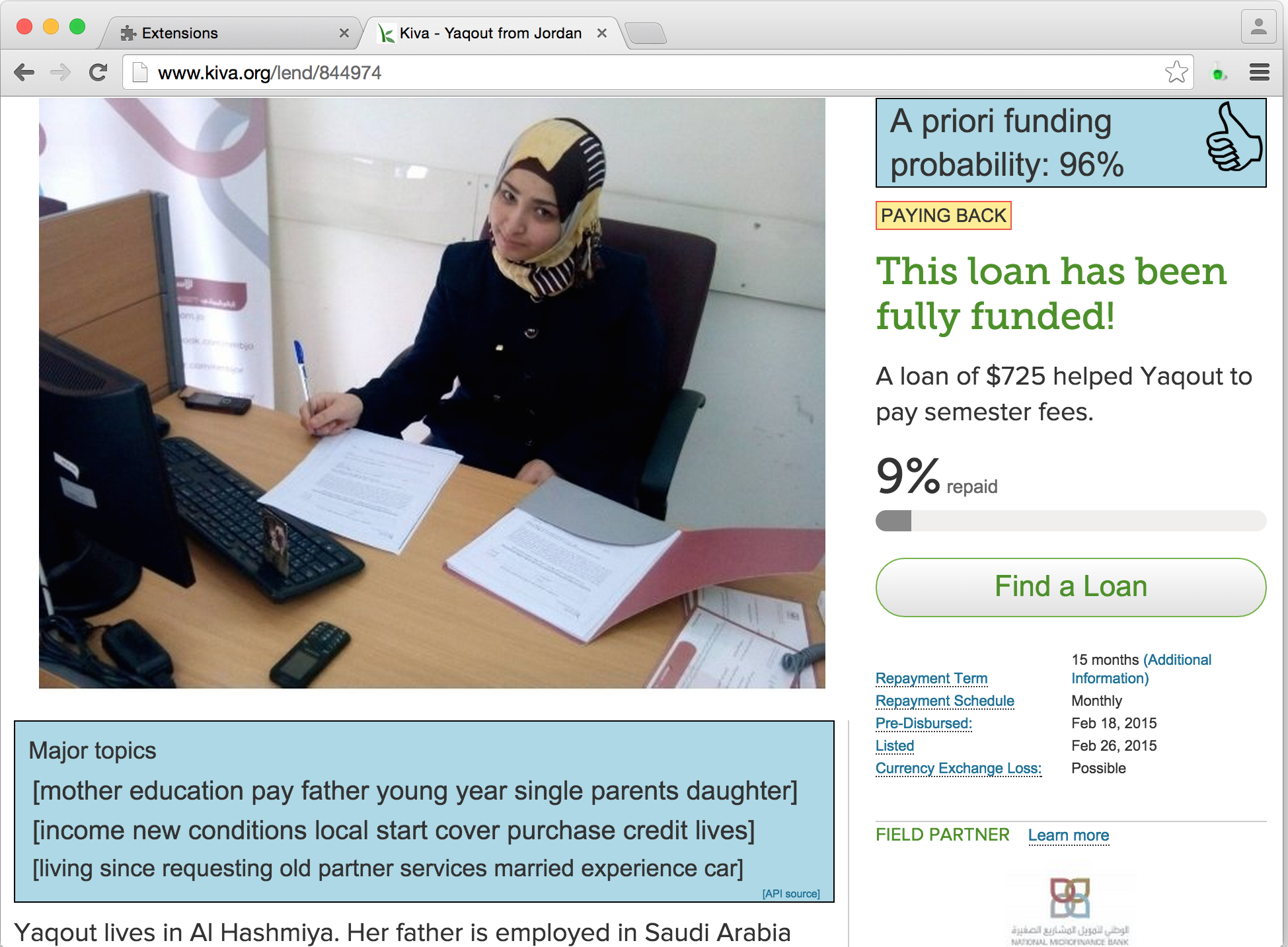 An end-to-end loan funding predictor for kiva org – Frederik